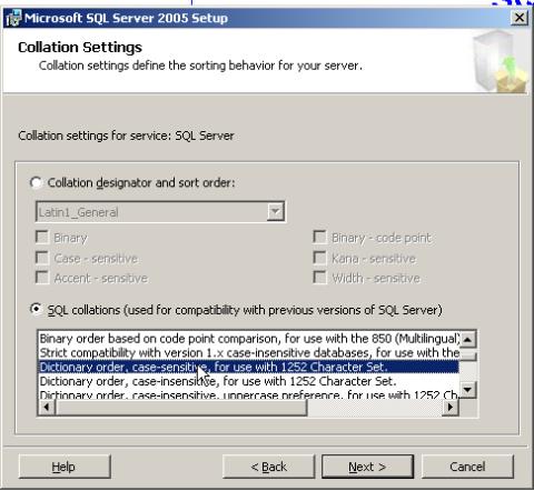 Sql Server Character Set